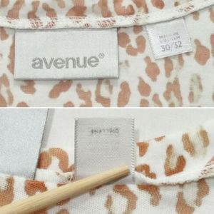 Avenue Tops - AVENUE Size 30/32 Leopard Animal Print Top 2576E2